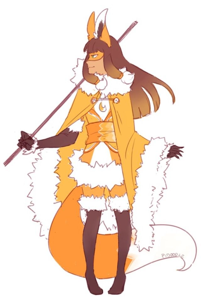 Volpina with cape by pidoodle