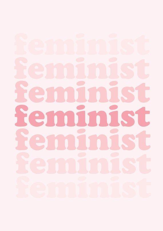Feminist Art-Feminism-Feminist Print-Empowered Women-Pink Wall   Etsy