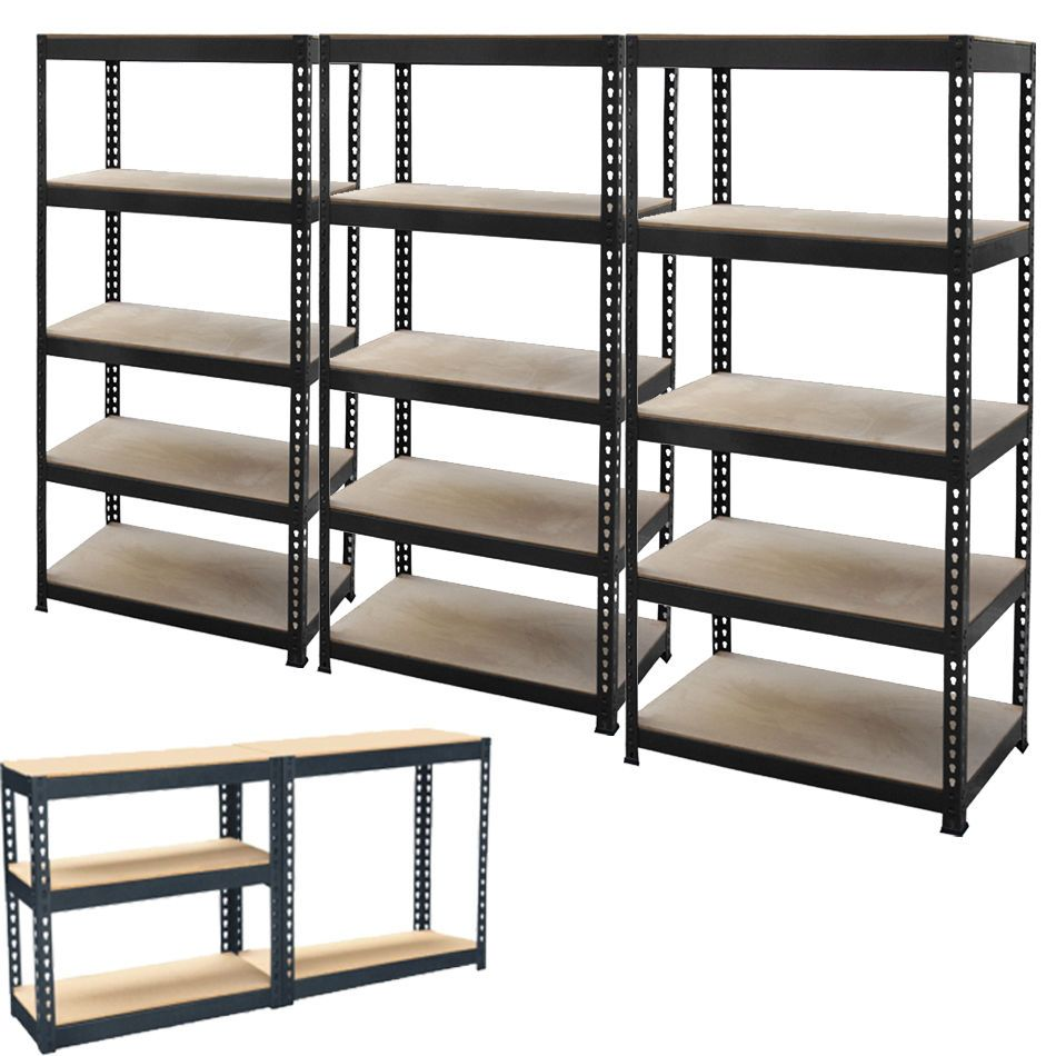 New 5 tier metal shelving shelf storage unit garage boltless shelves