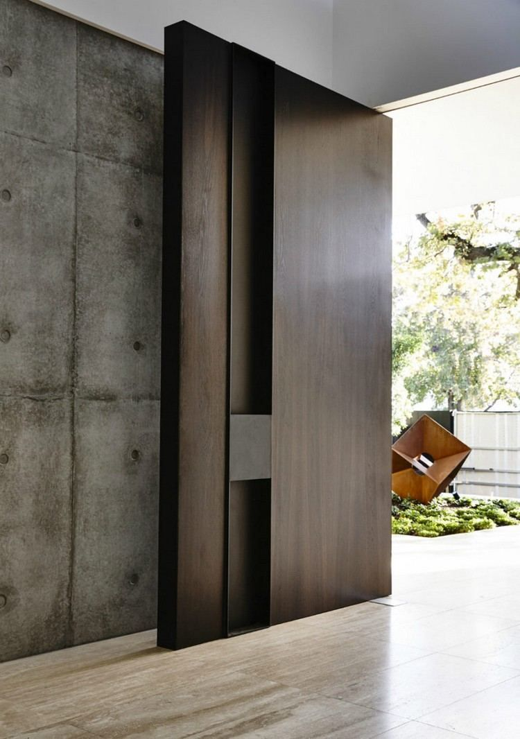 Assez Porte d'entrée moderne pour habiller la grande hauteur sous  DR01