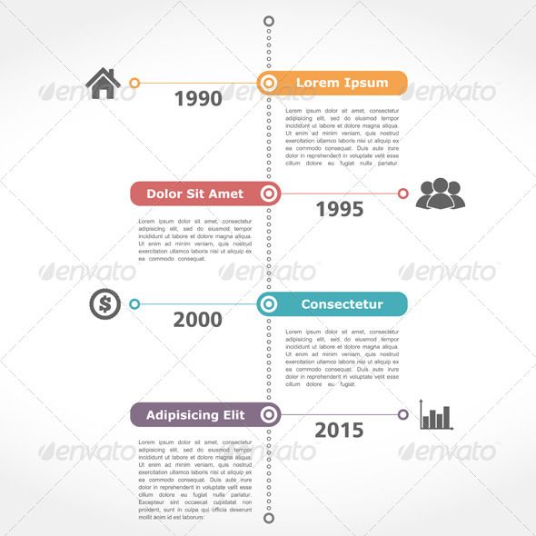 Timeline Template  Timeline Template And Flat Design