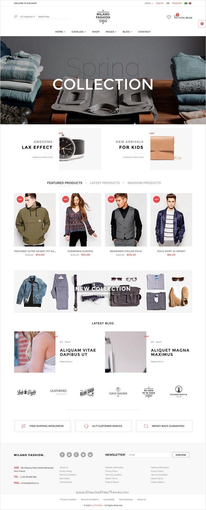 Joomla tshirt design - Milano Is Perfectly Design Responsive Virtuemart Joomla Template For Amazing Clothes Store Ecommerce