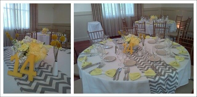 Merveilleux Image Result For Grey Table Runner Party Pinterest. Gray And Yellow Table  Runner ...