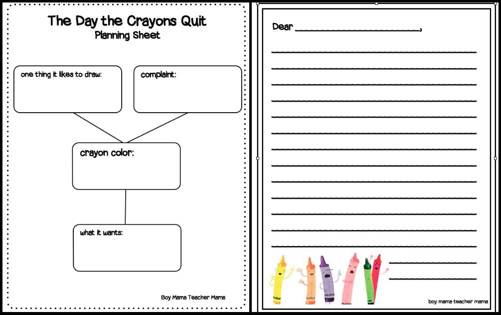 the day the crayons quit point of view lesson