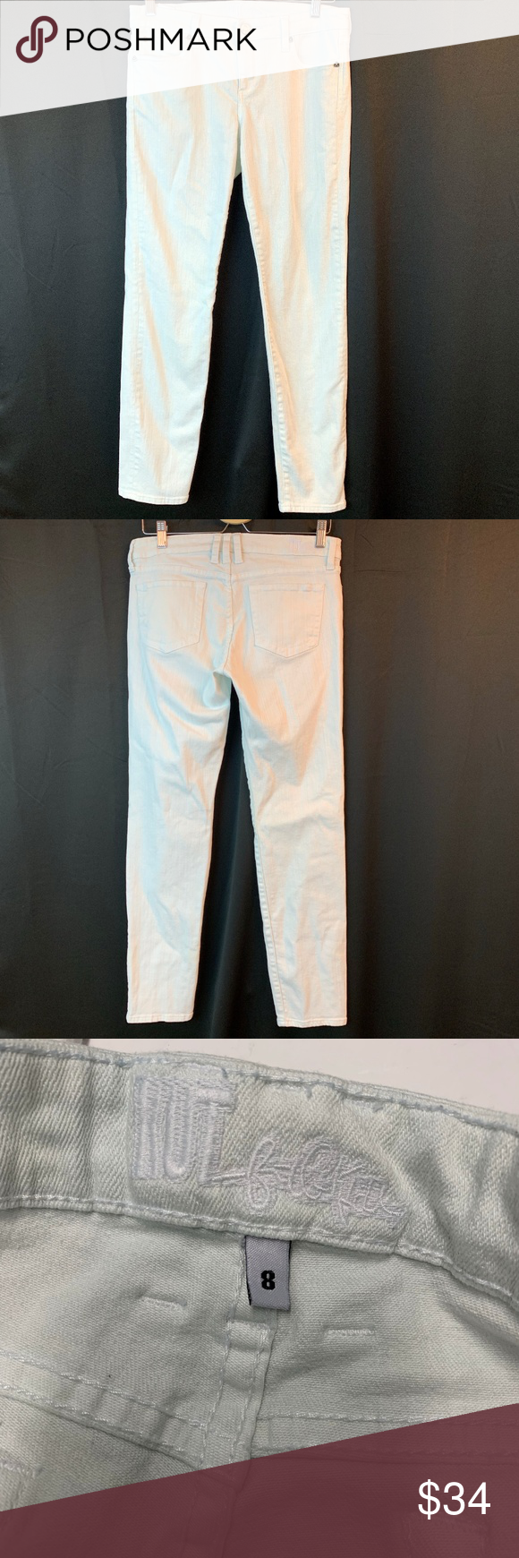 Kut From The Kloth Jeans White Skinny 8 Pants For Women White Jeans Kut From The Kloth