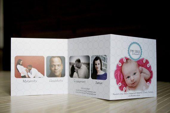 bubbles 5x5 trifold marketing brochure price list info photo card