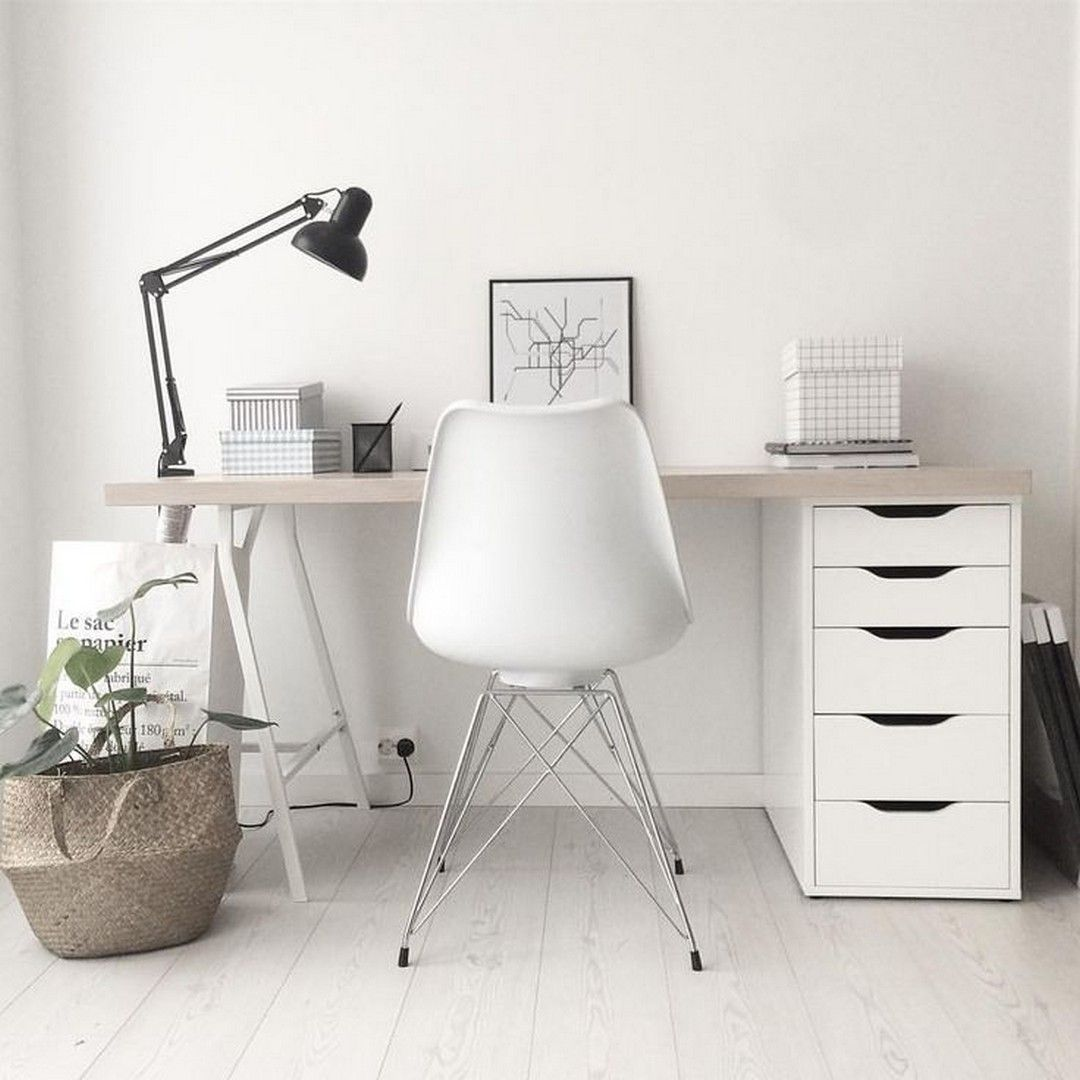 70 Fantastic Minimalist Workplace Design Ideas For Your Inspiration Home Office Table Home Office Decor Home Office Design