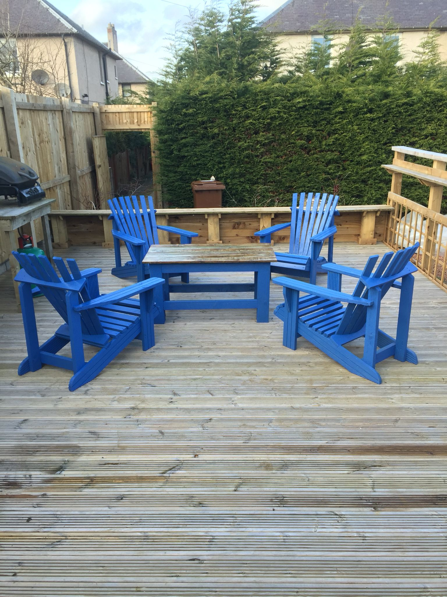 Chairs and table all finished and in place... | Pergola ...