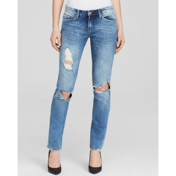 Blanknyc Jeans - Destructed Skinny in Good Vibes ($79) ❤ liked on Polyvore