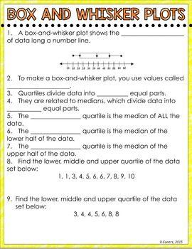 Box And Whisker Plot Digital Interactive Math Notebook Math Interactive Notebook Math Notebooks Math
