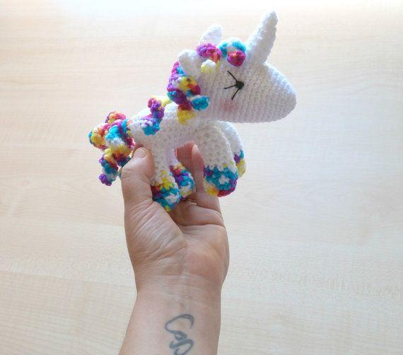 Unicorn crochet toy Unicorn child gift by Lesjoliesjouesrouges