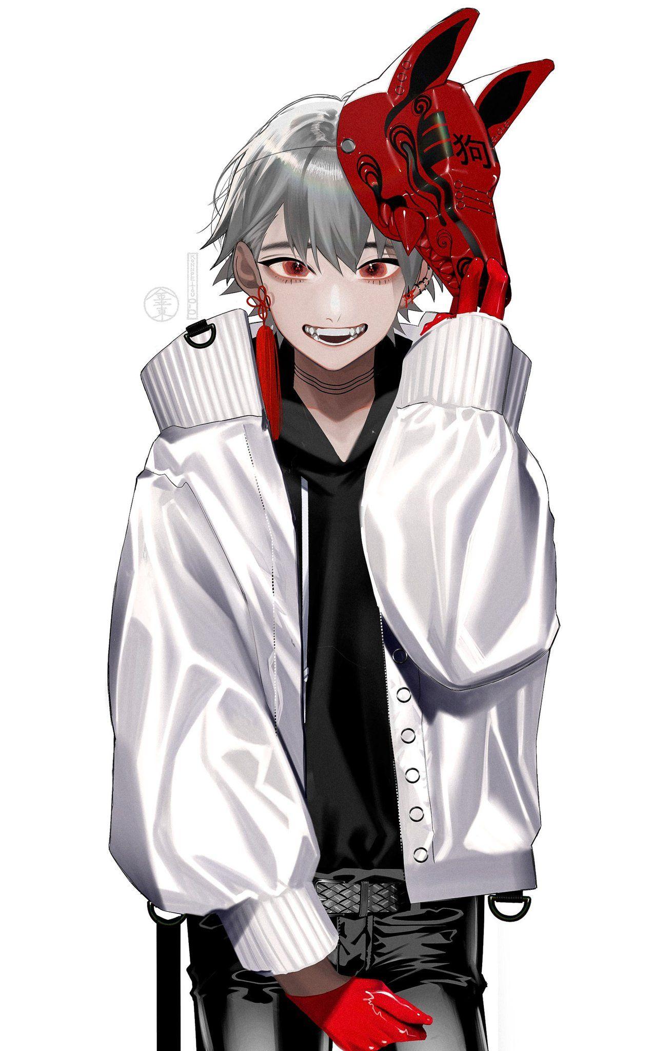 White Aesthetic Anime Boy