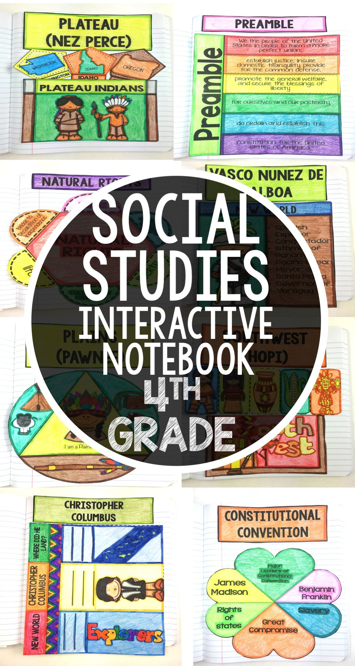 Social Stu S Interactive Notebook For 4th Grade