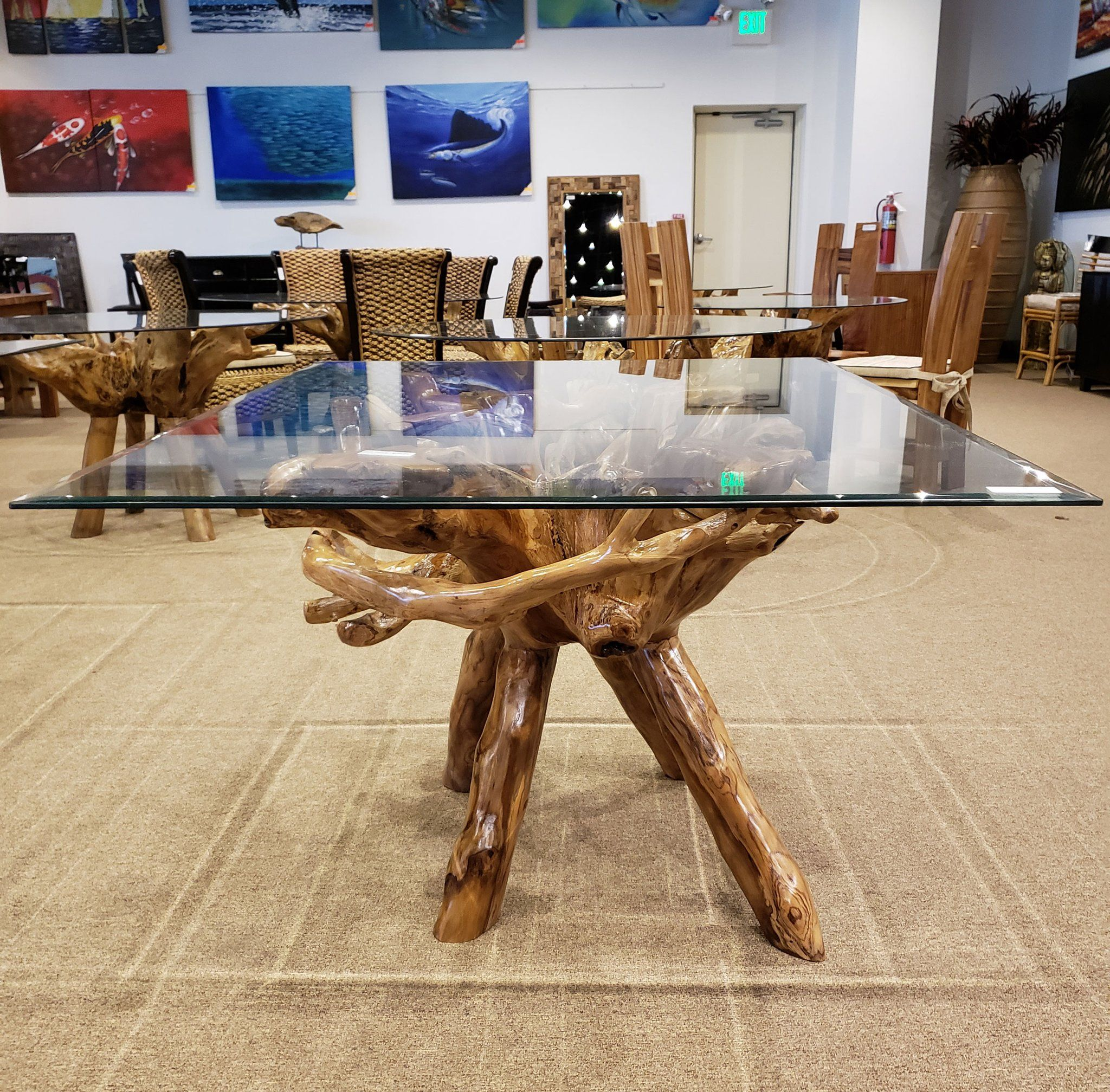 Teak Wood Root Dining Table Including A 55 Dining Table Dining