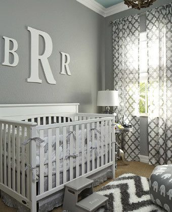 Superb Nursery: Grey Tonesu2014slate, Charcoal, Silveru2014come Together For A Relaxing,  Monochromatic Space. Pops Of White Balance The Grays And Keep This  Gender Neutral ... Awesome Design
