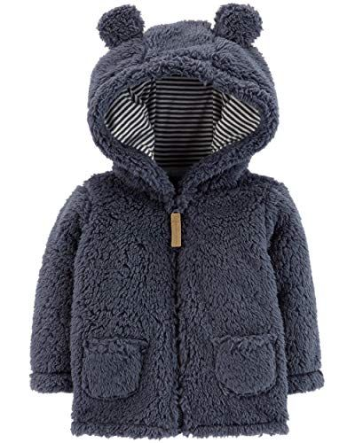 d4ea8ebfe Carter s Baby Boys  3M-24M Hooded Sherpa Jacket 6 Months ...