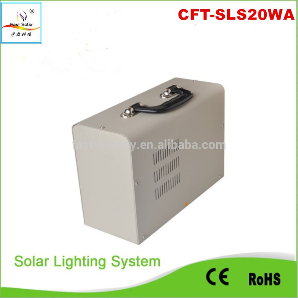 10w 20w solar panal led solar home system with 2 led lighting bulb ...