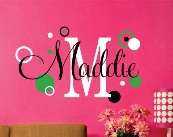Nursery Wall Decal Wall Decals Nursery Nursery Name Sign