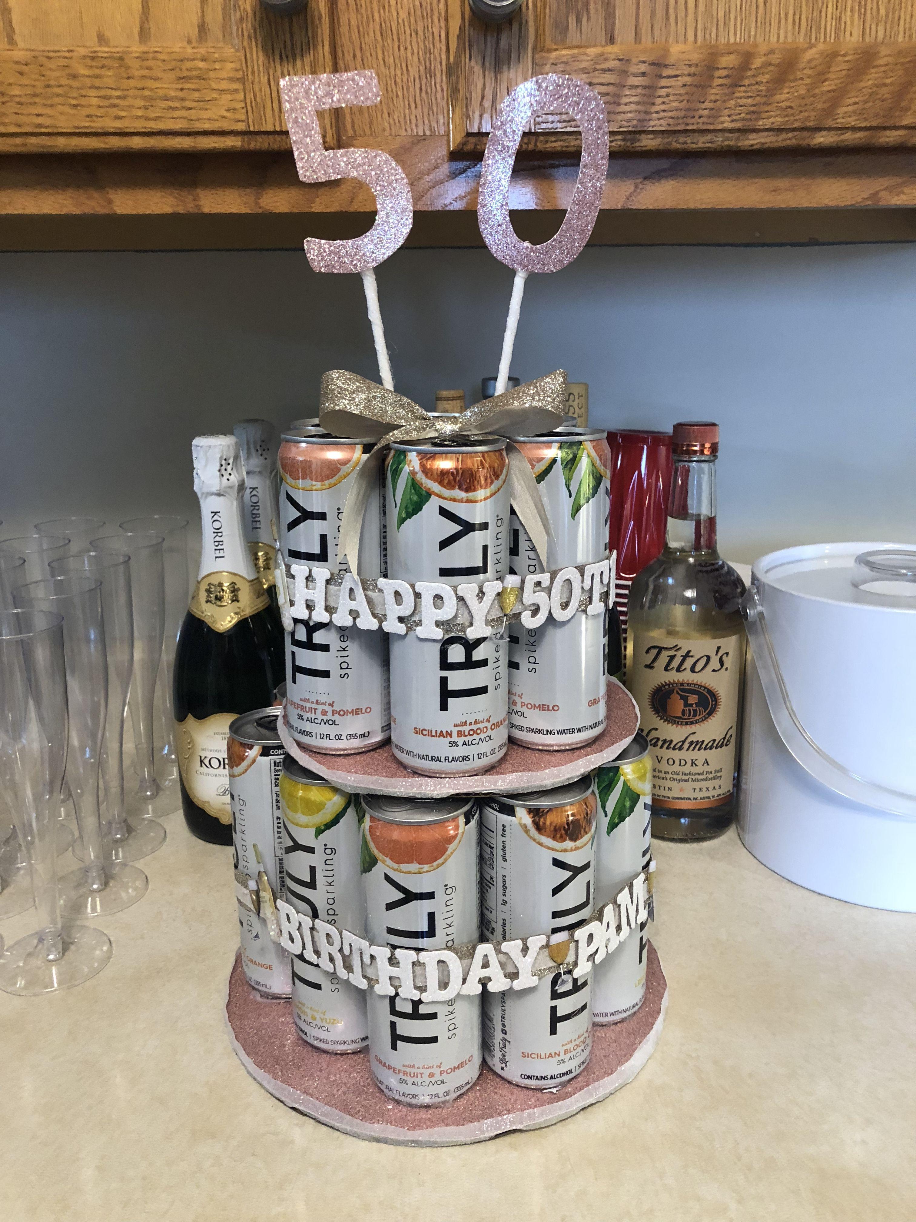 Beer Tower Beer Cake Truly Beer Tower 50th Birthday Beer