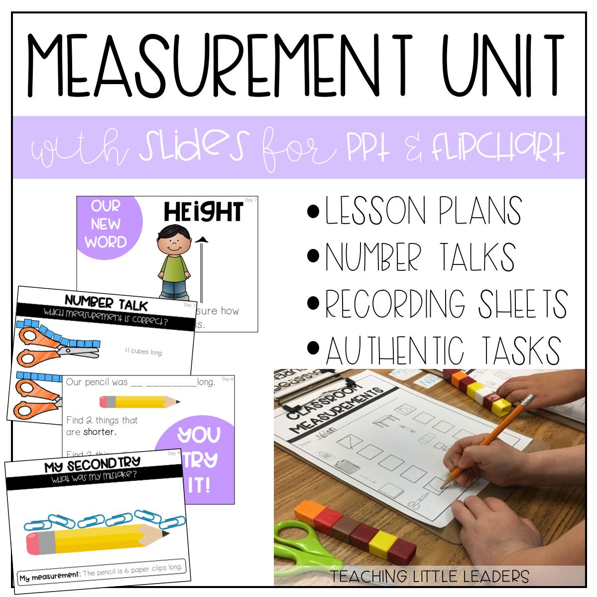Kindergarten Measurement Unit With Ppt And Flipchart