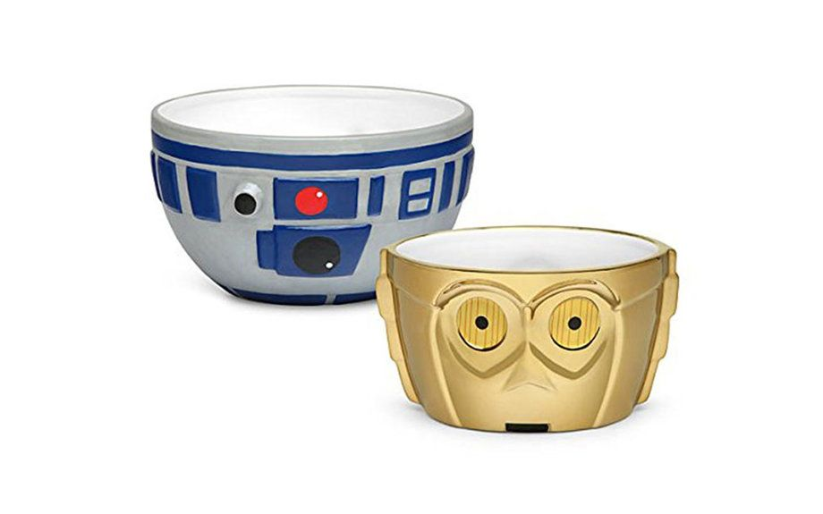 R2-D2 and C-3PO Ceramic Bowl Set | Food & Wine
