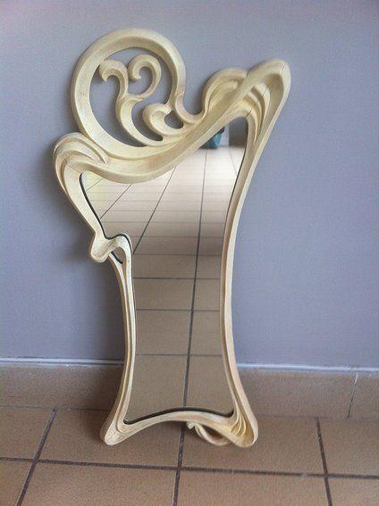 cadre sculpt en tilleul d 39 inspiration art nouveau avec miroir art nouveau pinterest. Black Bedroom Furniture Sets. Home Design Ideas