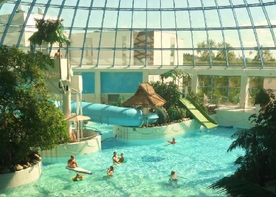 Spa With Indoor Swimming Pools And Waterslides. Sokos Hotel Eden In Oulu,  North Ostrobothnia