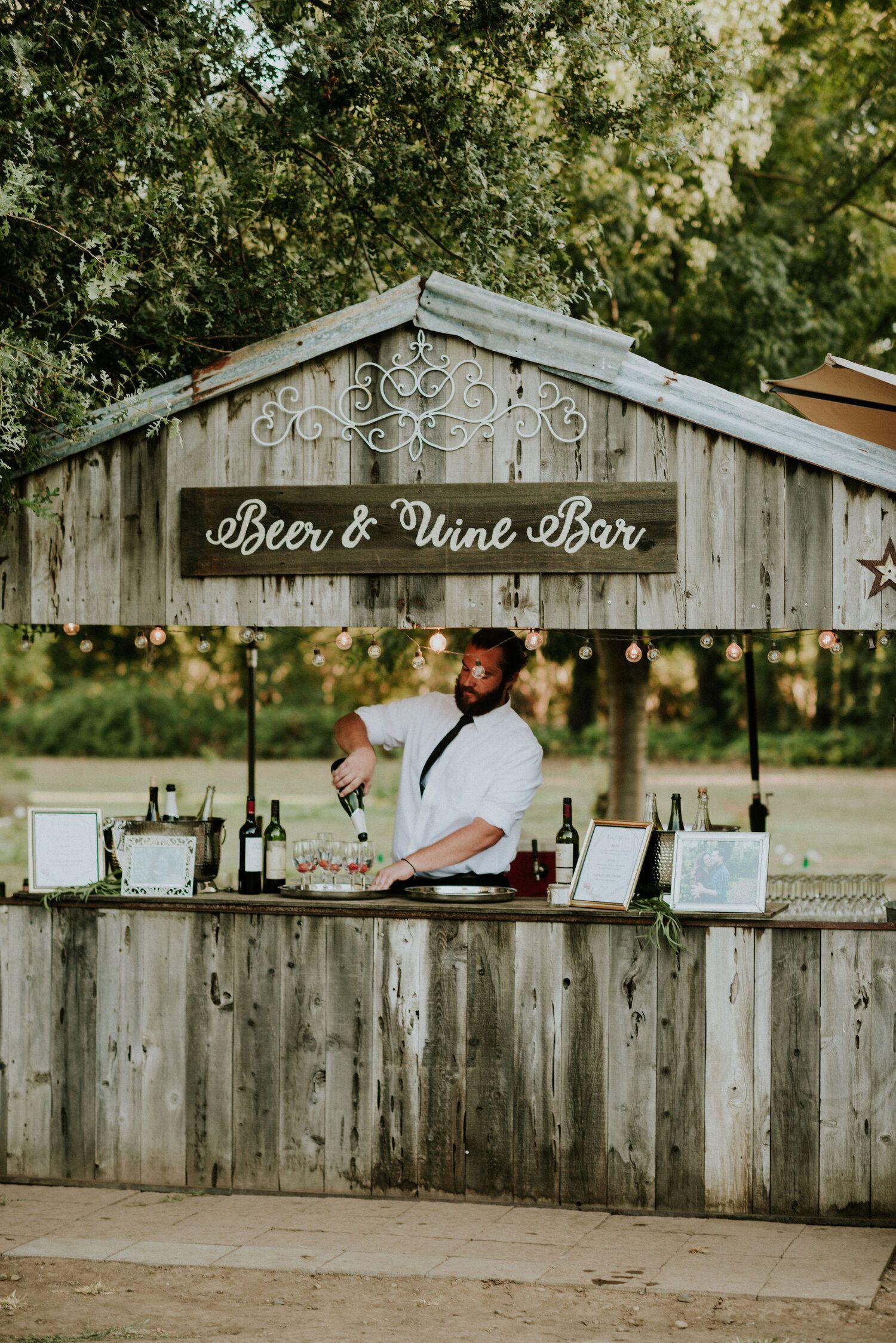 Rustic Outdoor Wedding Bar Ideas Outdoor Wedding Bar Rustic Outdoor Wedding Rustic Wedding Bar