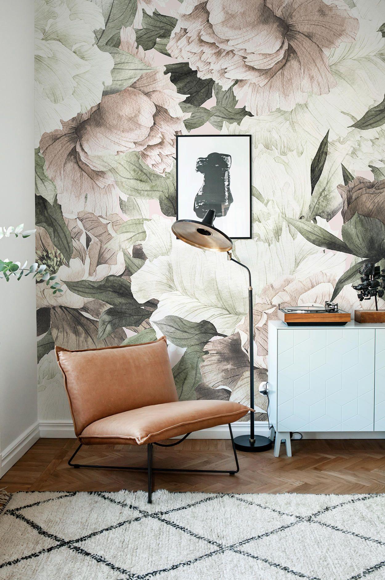 Große Blumentapete Wandbild Floral Wohnkultur