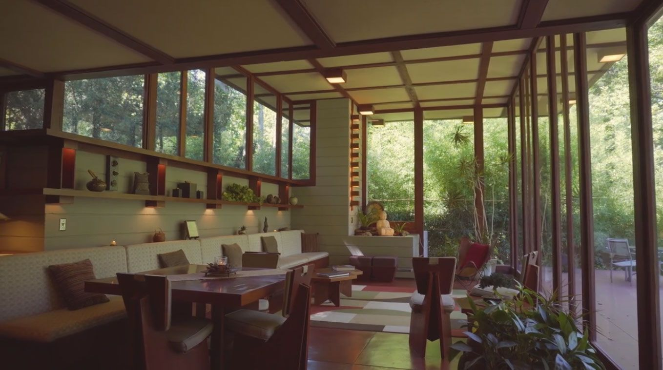 The Louis Penfield House With Images Usonian House Interior Architecture Design Frank Lloyd Wright Homes