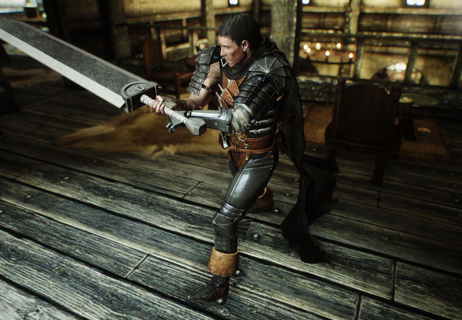 Berserk Black Swordsman Armor Mod & Dragonslayer Sword Mod for