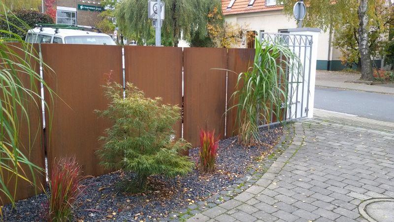 Gartengestalung Mit Stahl
