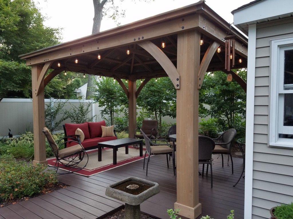 Image result for yardistry wood gazebo | Gazebo on deck ... on Yardistry Backyard Pavilion id=55974