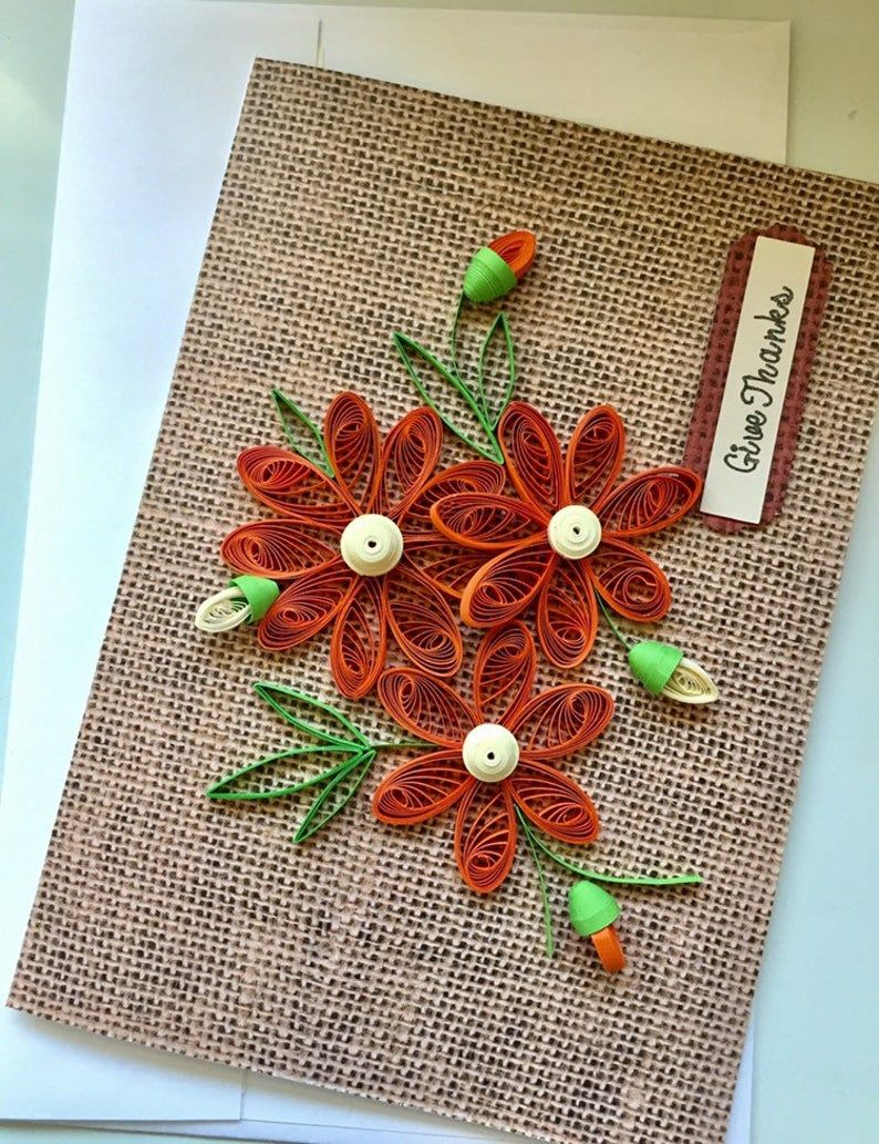 247-Quilling paper flowers greeting card Birthday card   Etsy