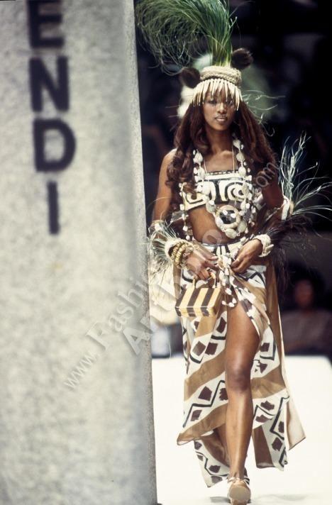 1996 Fendi Furs Fashion Magazine Print Ad: Fendi, Spring Summer