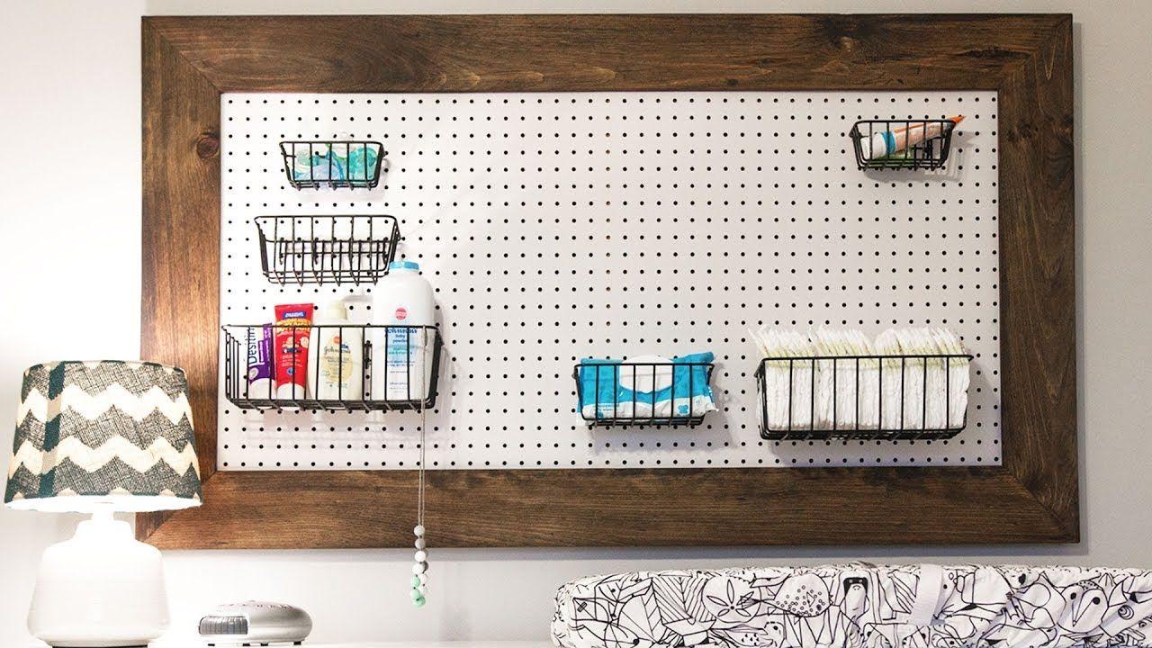 Building A Peg Board Organizer For The Nursery Handmade Crafts