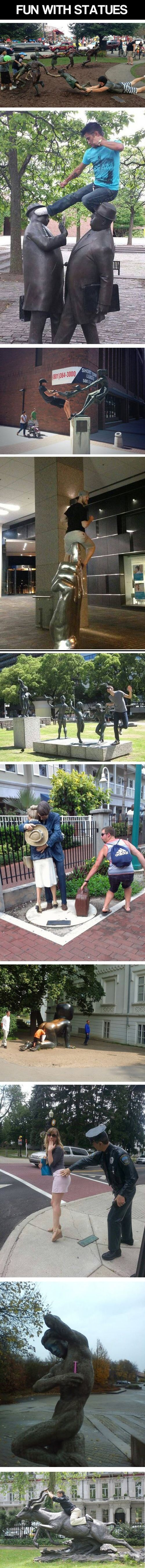 Fun with Statues.  I need to find some and do this!