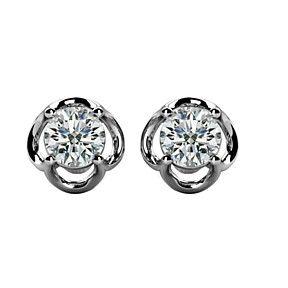 0.66 Carat DVVS1 Stud Diamond Earrings