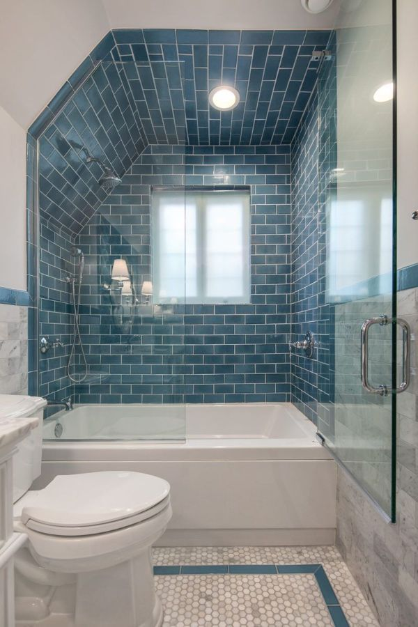 59 New Trend And Best Tile Bathroom Designs In 2020 Part 5 Blue Bathroom Tile Tile Bathroom Blue Bathroom