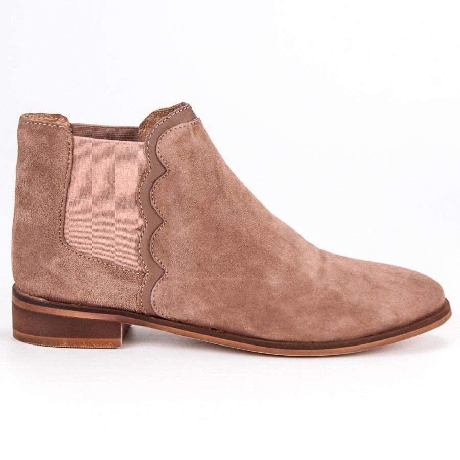 Skorzane Botki Sztyblety Brazowe Jodhpur Boots Boots Brown Leather Boots