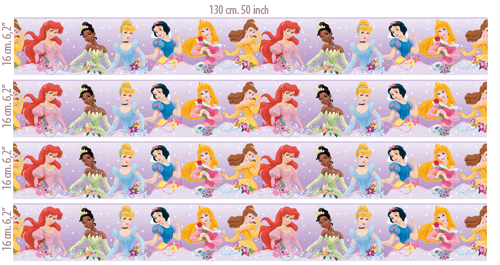 Disney Princess 3 Pack Kit de pegatinas de pared