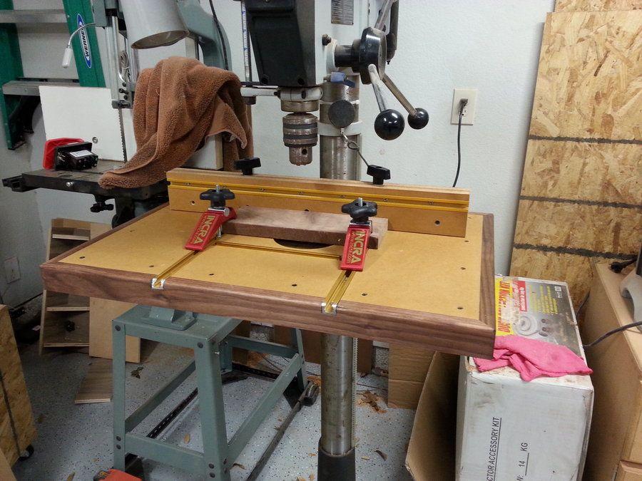 Incra Drill Press Table By Wunderaa Lumberjocks Com