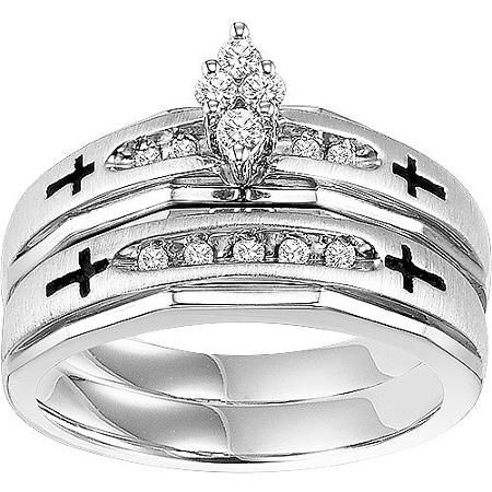 jaw trio Forever Bride 15 Carat TW Diamond Sterling Silver