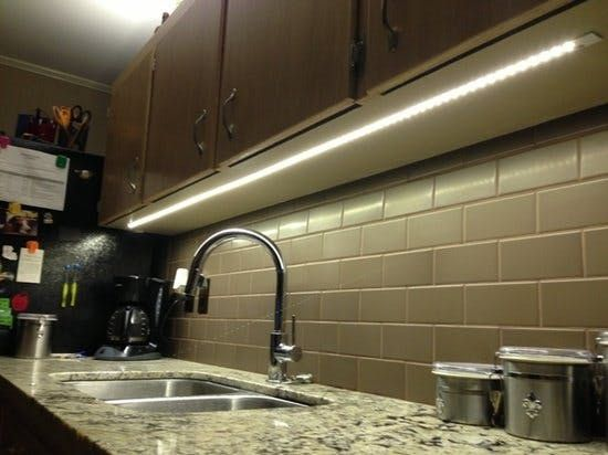 under cabinet lighting in kitchen. The Under-cabinet Lights In My Kitchen Are Chunky Fluorescents From They Flicker And Buzz Have That Aggravating Warm-up Period Every Time You Turn Under Cabinet Lighting