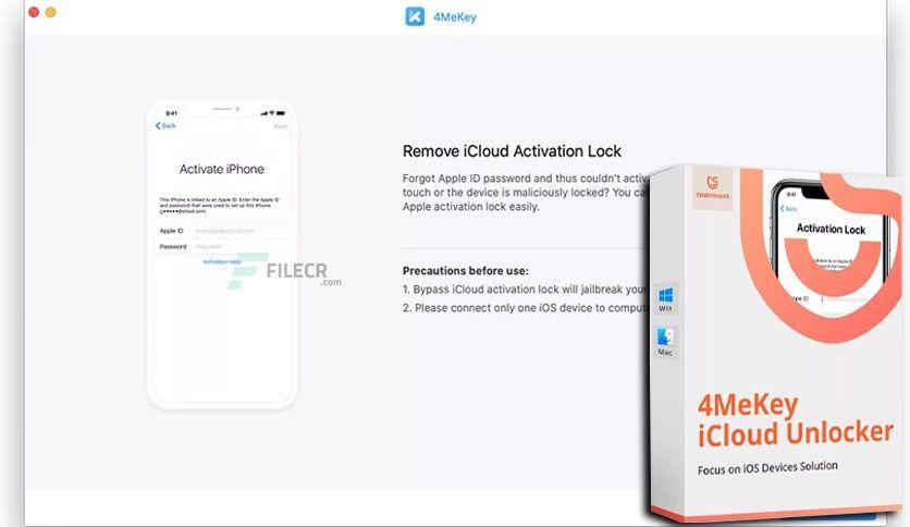 Tenorshare 4mekey 1 0 1 1 In 2021 Icloud Activities Free Download