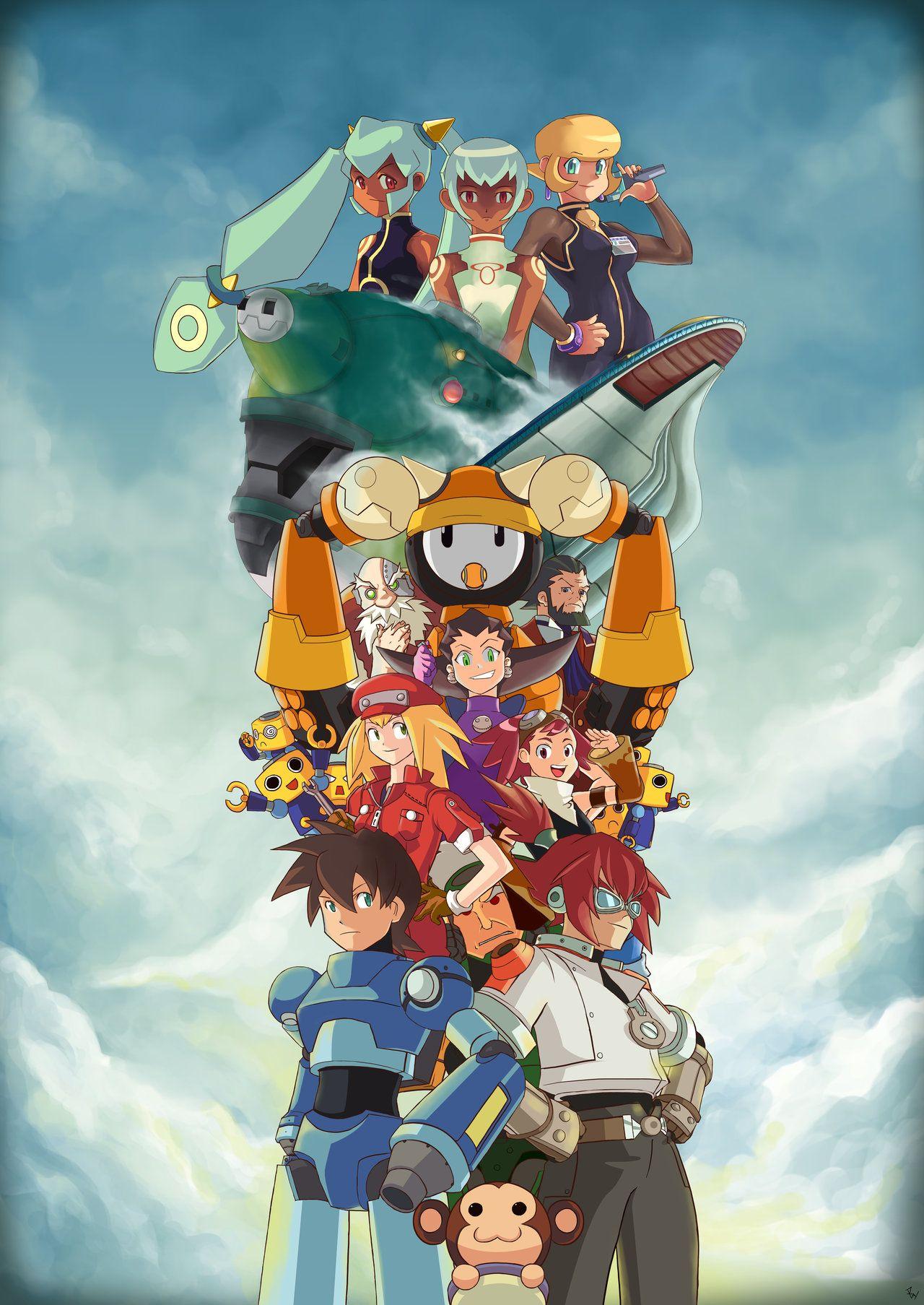 Mega Man Legends Station D Mega Man Legends Wallpapers Mega Man Legend Zelda Characters