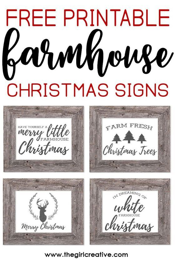 graphic relating to Free Printable Signs referred to as Totally free Printable Farmhouse Xmas Signs and symptoms Xmas presents