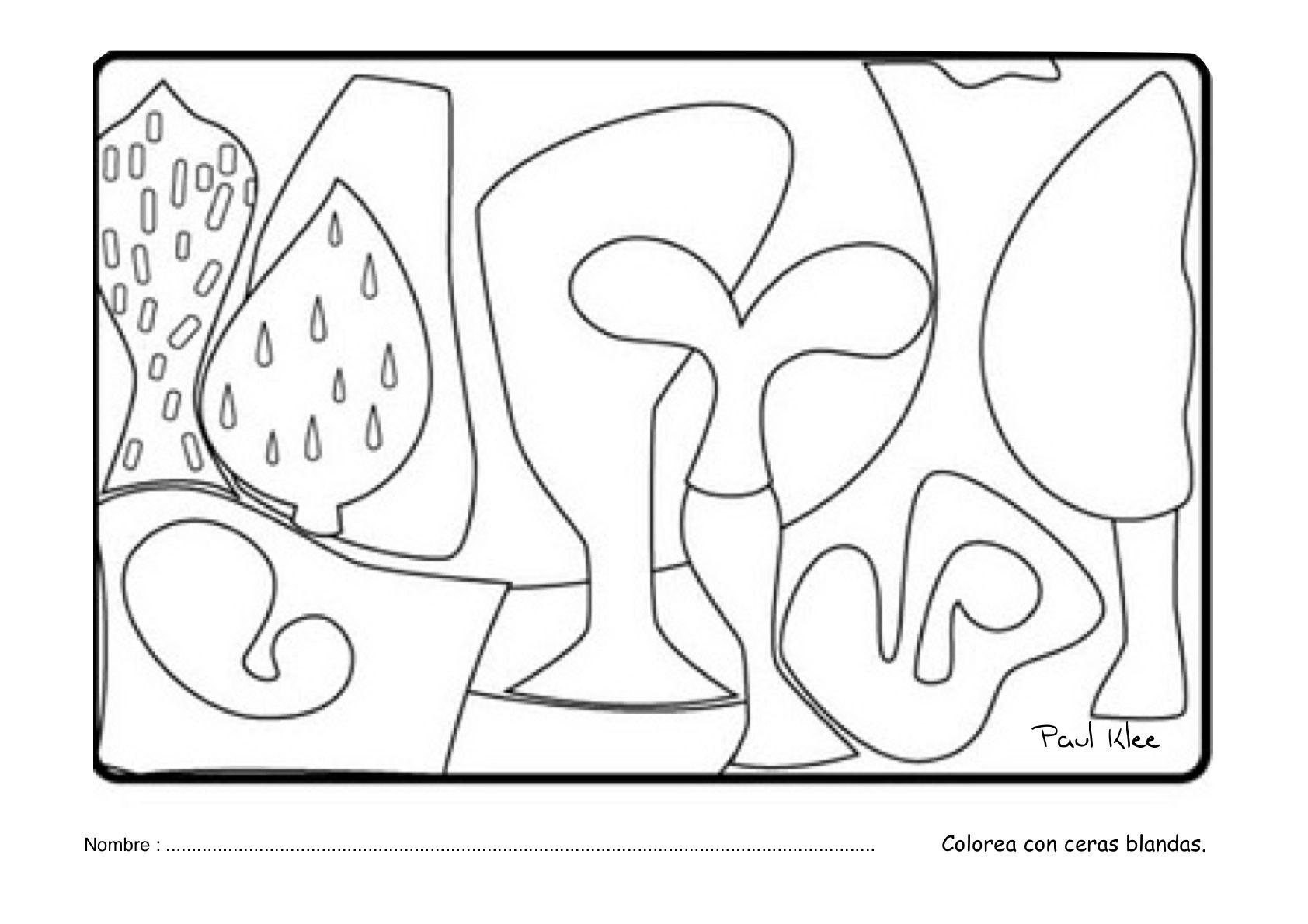 Cuadros de paul klee para colorear buscar con google for Paul klee coloring pages