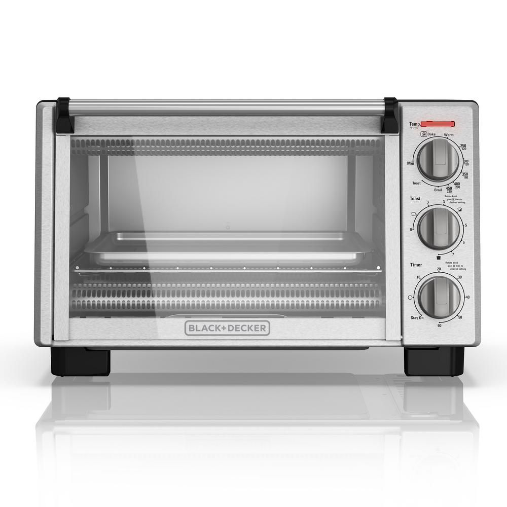 Black Decker 1350 W 6 Slice Black And Silver Convection Toaster Oven With Built In Timer To2055s 6 Slice Toaster Toaster Stainless Steel Toaster