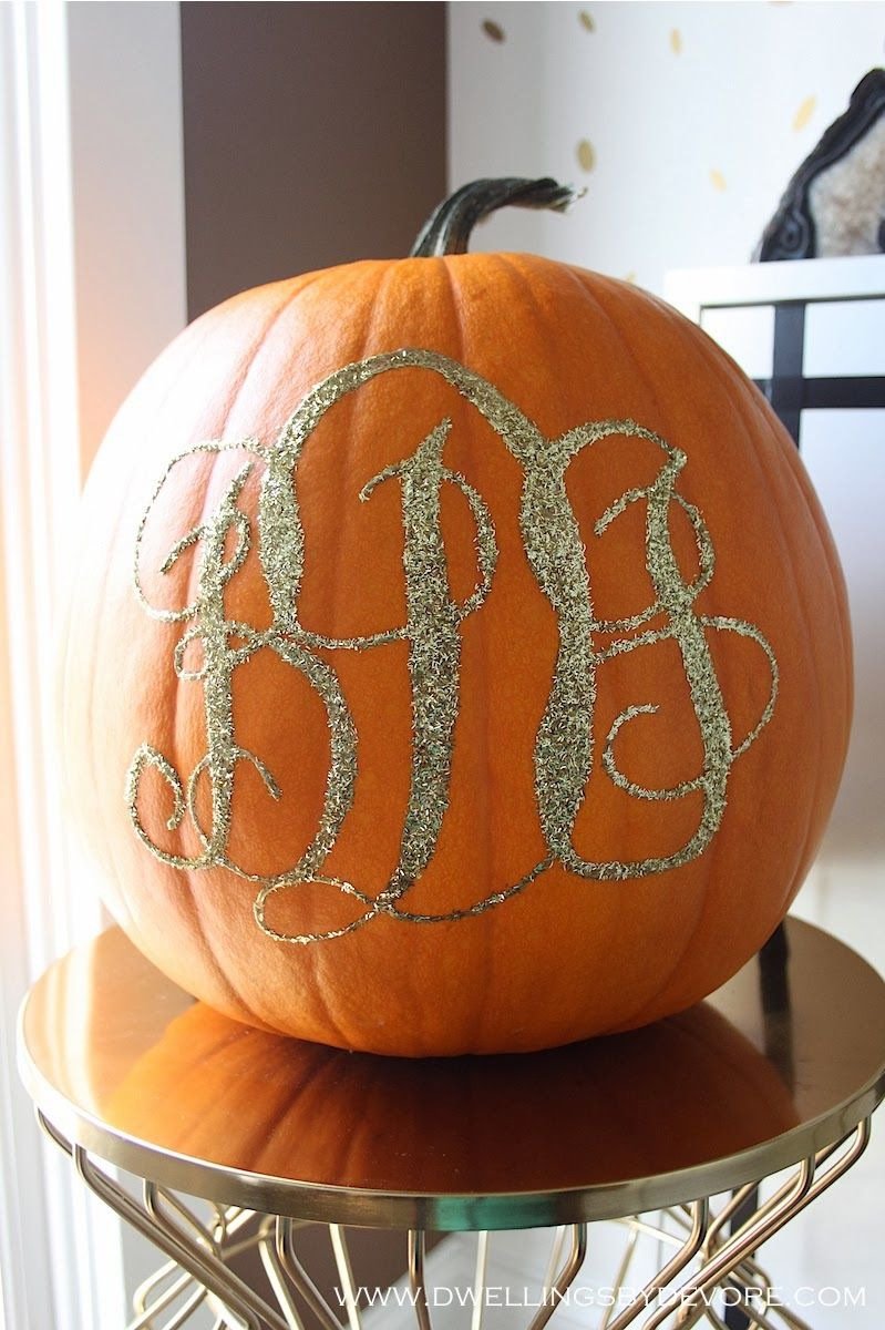 Dwellings By DeVore: DIY Monogram Pumpkin